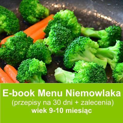 E-book dieta niemowląt  w wieku 9-10 miesięcy przepisy dla dzieci