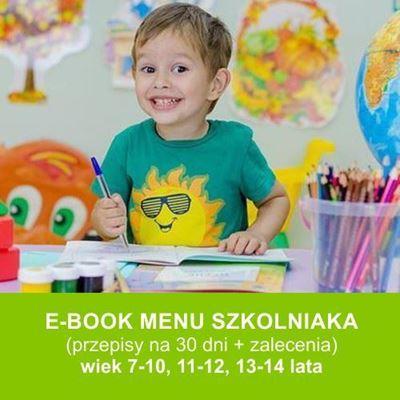 E-book Menu szkolniaka to zbiór smacznych i zdrowych przepisów dla dzieci w wieku 7-14 lat